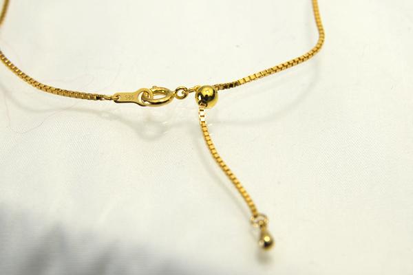 11 / 16 60 厘米长出现! 长度可调的幻灯片高级链 !ベネチアンゴールド 链,优雅纹理 !