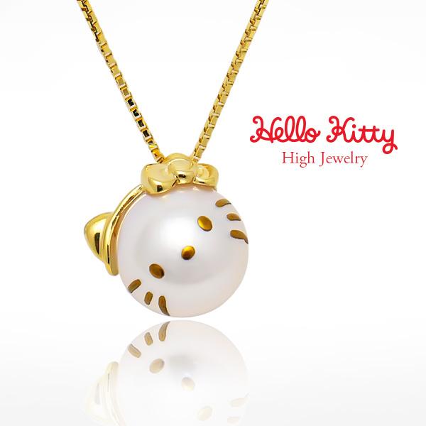 サンリオ公式 ハローキティ アコヤ真珠 K18YG K18PG ペンダント HELLO KITTY Pearl Pendant CON