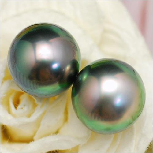 10mm 黒蝶真珠 ピアス イヤリング てり色鮮やかな特級真珠は存在感抜群のゴージャスなきらめき