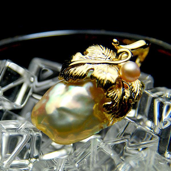バロック 特売 淡水真珠 ペンダントトップ 色彩の豊かさが魅力のメタリックな大粒パール バースデー 記念日 ギフト 贈物 お勧め 通販