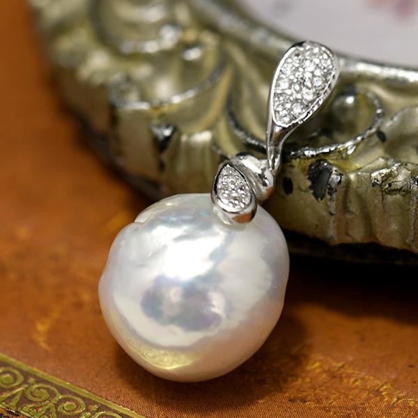 11mm 格安 大人気! 価格でご提供いたします バロック 淡水真珠 てらてらとシャボン玉カラー浮かぶメタリックパール ペンダントトップ