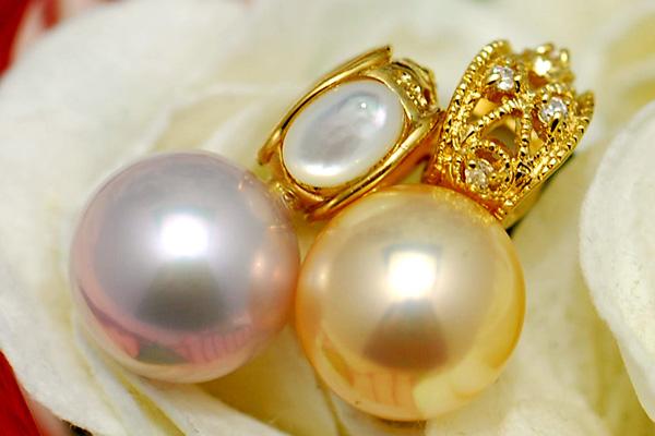 10mm 淡水真珠 ペンダントトップ 極上のてりが華やかな特級品質の特別な大珠たち! リバーシブルで使えます KA36 3701P-008