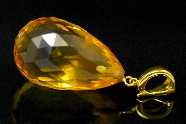 Lecollier rakuten global market shimmering chirac kira in the shimmering chirac kira in the large citrine pendant with clear transparent high quality jumbo honey gold easy to use with clicker hardware aloadofball Choice Image