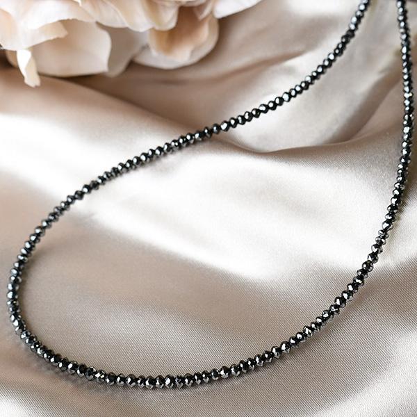 30ct ブラックダイヤモンド ネックレス 美しい漆黒の贅沢 KA90