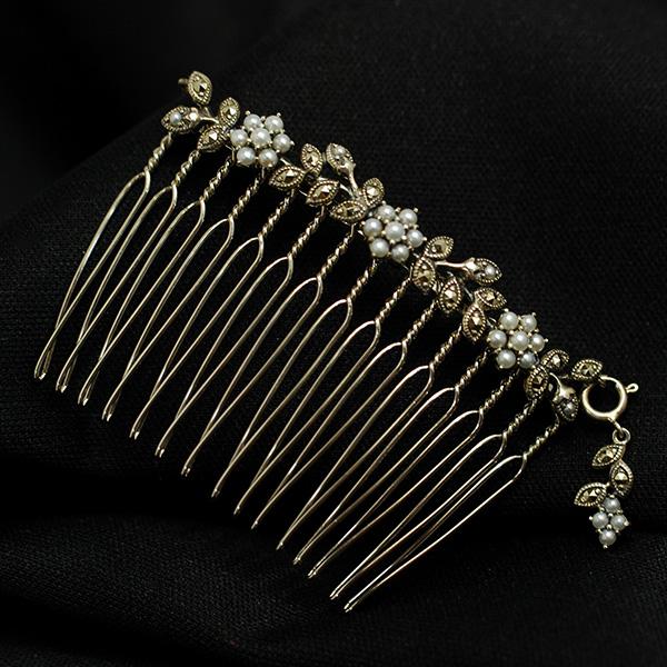 碌山 シードパール マルカジット コーム 櫛 髪飾り RP 204A0032