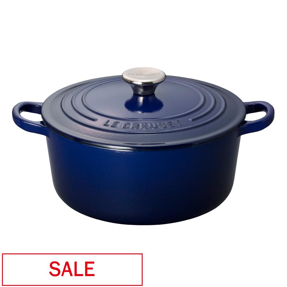 【SALE】ココット・ロンド 24cm インディゴブルー ル・クルーゼ ルクルーゼ LE CREUSET ギフト SALE 送料無料 鍋 フライパン 両手鍋