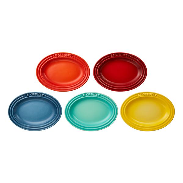 ミニ・オーバル・プレート(5枚入り) ル・クルーゼ ルクルーゼ LE CREUSET ギフト 洋食器 小皿 陶器 シンプルクッキング