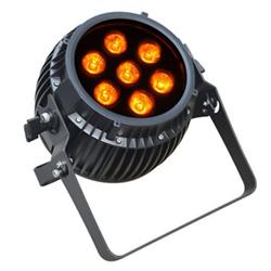 ●【送料無料】6 in 1 RGBWA UV LED Par dim4テクノロジー IP65 7 x 12W LED ダボ付き バッテリーWireless付き ビームテック