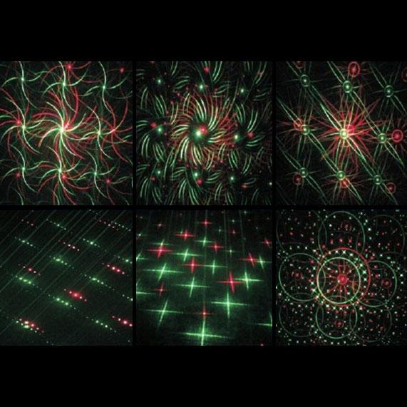レーザープロジェクタ 6 effects 赤 100mW 緑 50mW DMX対応 ビームテック