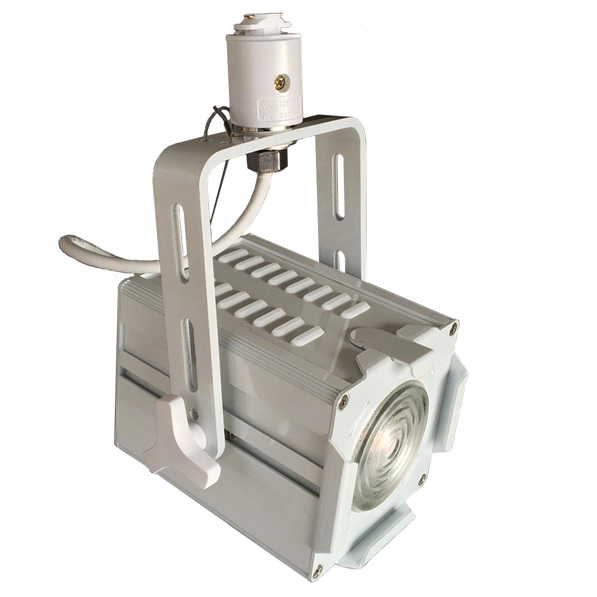 ●【送料無料】ダクトレール用スポットライト LED Fresnel Spot with Zoom SCR調光対応 Zoom角度 16-28度 ハロゲン300W相当 自然空冷 ファンレス Nichia COB LED チップ ビームテック