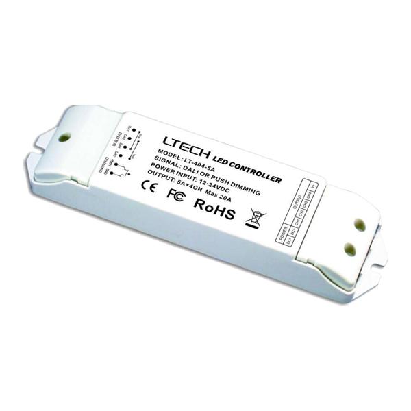 【送料無料】LED調光ディマー 4チャンネルx5A DALI 調光器 DC12-DC24 0-100%調光 LDB-5463DALI ビームテック