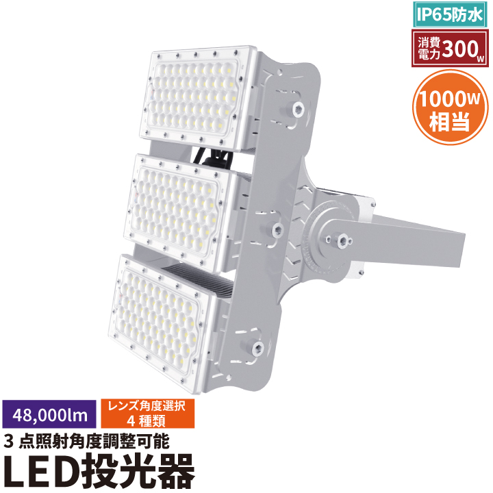 LED投光器 300W 投光器 LED 屋外 看板 駐車場 作業灯 防犯灯 LEP300S ビームテック