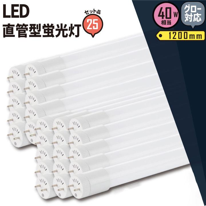 【送料無料】25本セット LED蛍光灯 40形 グロー 工事不要 電球色 昼白色 40W LT40K-III--25 広角 直管 照明 Brite ビームテック