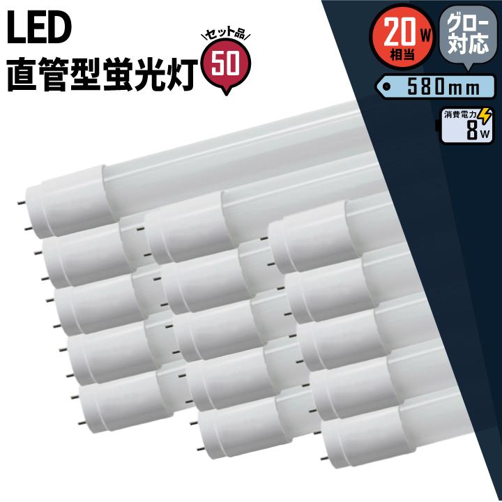 ●【送料無料】50本セット LED蛍光灯 20W 直管 昼白色 LTG20YT--50 ビームテック