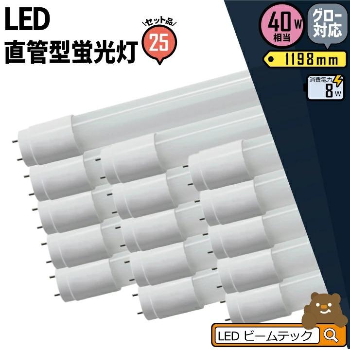 【送料無料】25本セット 3年保証 LED蛍光灯 40W 直管 昼白色 LTG40YT--25 ビームテック