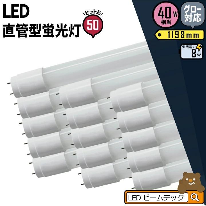 ●【送料無料】50本セット 3年保証 LED蛍光灯 40W 直管 昼白色 LTG40YT--50 ビームテック