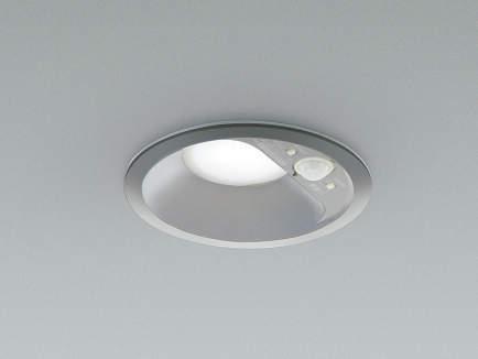コイズミ照明 LED防雨防湿ダウンライト 屋外 人感センサー付 5000K昼白色