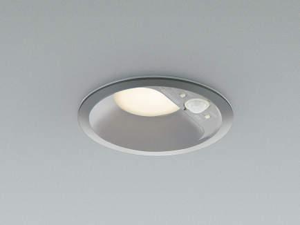 コイズミ照明 LED防雨防湿ダウンライト 屋外 人感センサー付 2700K電球色