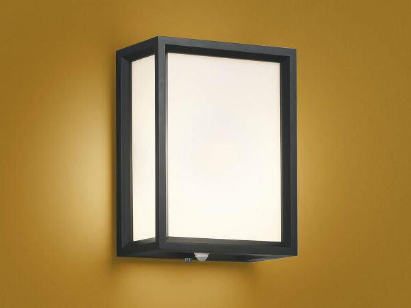 コイズミ照明 LED防湿ブラケットライト 玄関灯 屋外 人感センサー付 2700K電球色