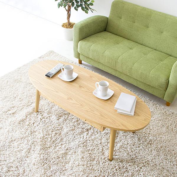 ローテーブル 110cm幅 ちゃぶ台 円卓 座卓 ミニテーブル 丸テーブル 引き出し付き シンプル モダン ミッドセンチュリー コンパクトセンターテーブル ブラウン ナチュラル