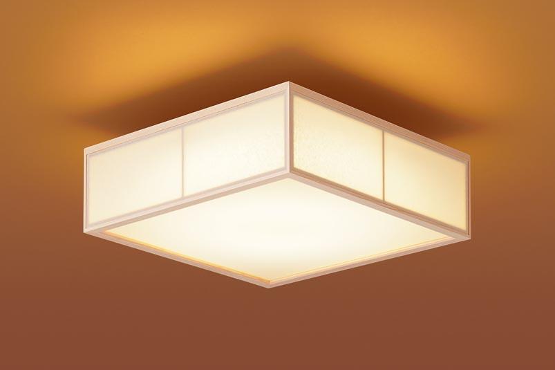 パナソニック天井直付型 LED(電球色) 小型シーリングライト 美ルック・拡散タイプ はなさび 守(数寄屋) パネル付型
