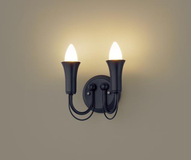 【エントリーでポイント+5倍!】[N]パナソニック壁直付型 LED(電球色) ブラケット 白熱電球40形2灯器具相当 40形2灯 ランプ付き