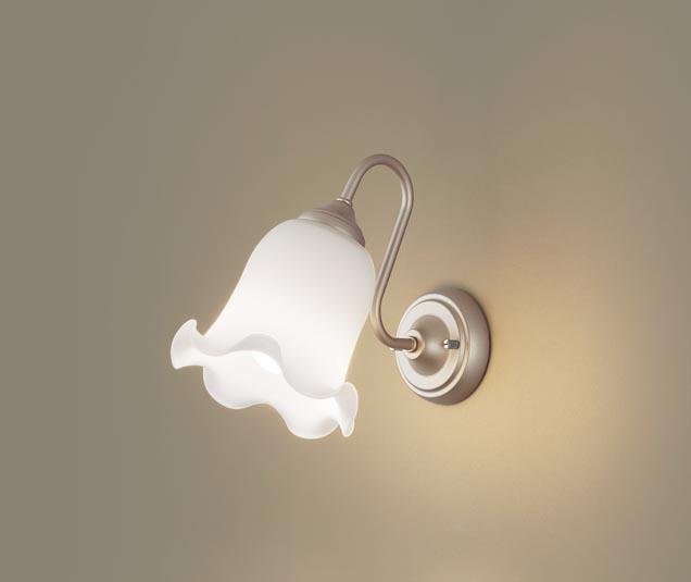 パナソニック壁直付型 LED(電球色) ブラケット 白熱電球60形1灯器具相当 ランプ付き