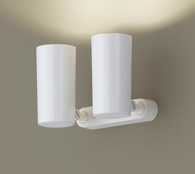 【エントリーでポイント+5倍!】[N]パナソニック天井直付型・壁直付型・据置取付型 LED(電球色) スポットライト ポリカーボネートセードタイプ 白熱電球50形2灯器具相当 50形 ランプ付き