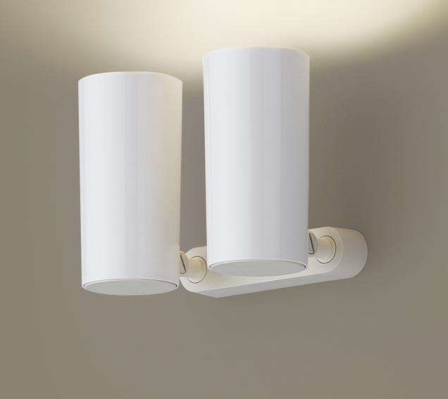 パナソニック天井直付型・壁直付型・据置取付型 LED(電球色) スポットライト ポリカーボネートセードタイプ 白熱電球80形2灯器具相当 80形 ランプ付き