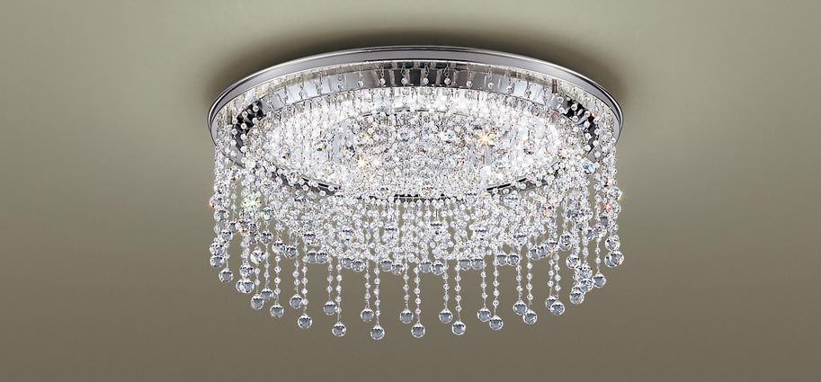 パナソニック天井直付型 LED(昼光色・電球色) シーリングライト リモコン調光・リモコン調色 シャンデリング ~8畳