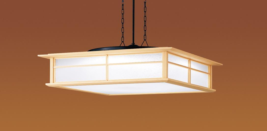 パナソニック直付吊下型 LED(昼光色・電球色) ペンダント 下面密閉 パネル付型 角型 ~12畳