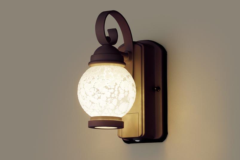 パナソニック壁直付型 LED(電球色) ポーチライト 密閉型・拡散タイプ 防雨型・FreePaお出迎え・明るさセンサ付・段調光省エネ型 白熱電球60形1灯器具相当
