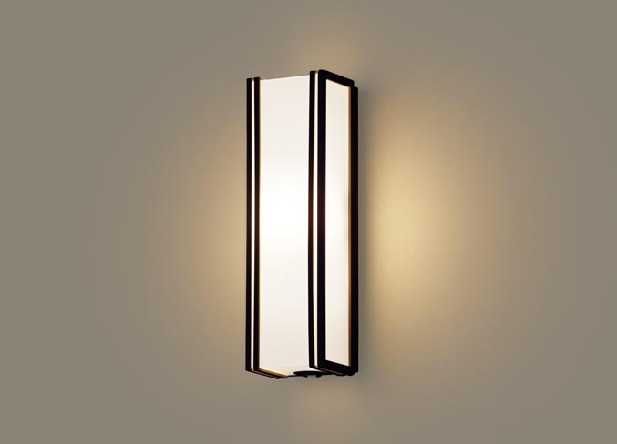 パナソニック壁直付型 LED(電球色) ポーチライト 拡散タイプ 防雨型・FreePaお出迎え・フラッシュ・段調光省エネ型・明るさセンサ付 40形