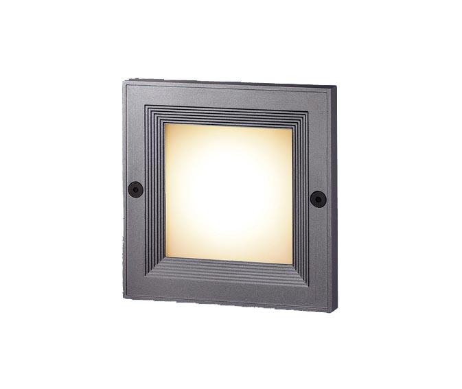 パナソニック壁埋込型(埋込ボックス取付) LED(電球色) フットライト 防雨型 スクエアタイプ 白熱電球10形1灯器具相当 10形