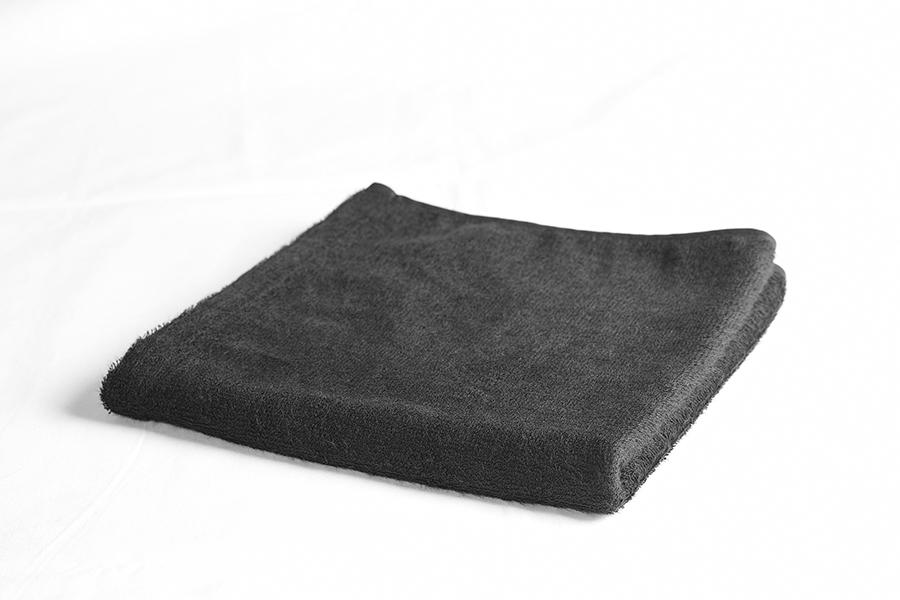 ワンダーヘアANNEX ブリーチプルーフタオル 黒 12枚入 色の変わらない黒タオル カラー剤 ブリーチ剤用タオル[4582225131746]