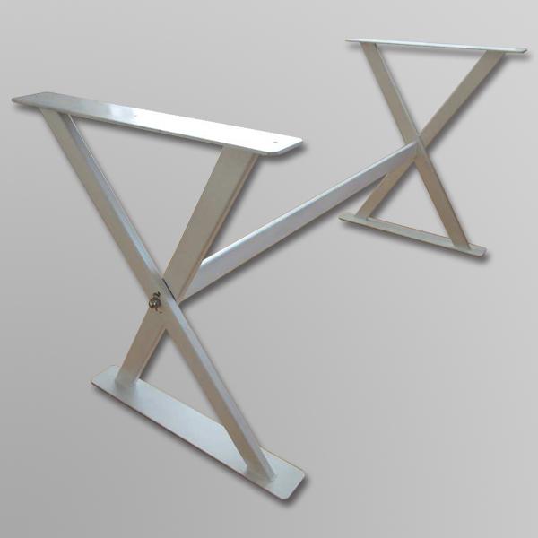 一枚板テーブル専用脚 当店の一枚板との組み合わせに最適です 一枚板用 スチールクロス脚 1600mm 鉄製 ダイニングテーブル アイアン