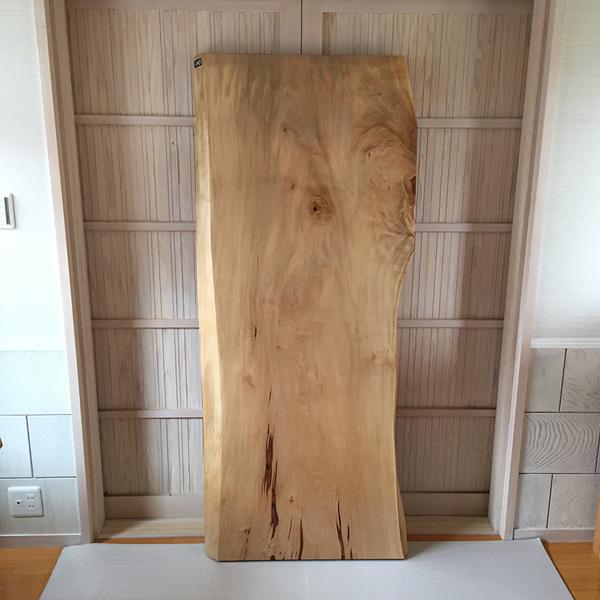 天然銘木一枚板 栃 トチ ダイニングテーブル 天板のみ 座卓 テーブルなどに 天板 一枚板 無垢 天然木 クリア塗装仕上げ ws-243