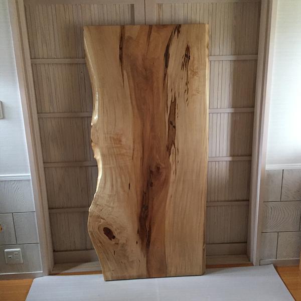 天然銘木一枚板 栃 トチ ダイニングテーブル 天板のみ 座卓 テーブルなどに 天板 一枚板 無垢 天然木 クリア塗装仕上げ ws-245