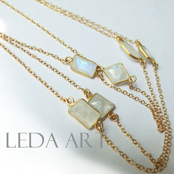 f33b12ca7a33de NEW! Ladies j jewelry ladies necklace natural stones Moonstone necklace  gold necklace K14GF necklaces Goldfield ...