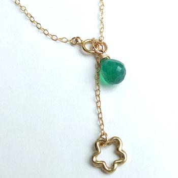0d4dfc9a461f24 ... Ladies j jewelry ladies necklace natural stones necklace green natural  stone green Onyx grain necklace gold