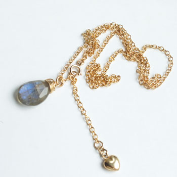 9d8859c03bf976 ... Ladies j jewelry ladies necklace natural stones labradolitenecklace  necklace K14GF necklaces Goldfield 14 KGF ...