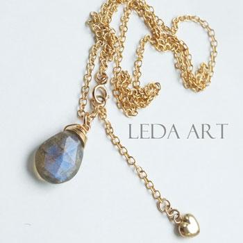 b637e8a1b1f300 Ladies j jewelry ladies necklace natural stones labradolitenecklace necklace  K14GF necklaces Goldfield 14 KGF ...