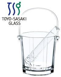【包装不可】 東洋佐々木ガラス ラビン アイスペール トング付き 12個セット 品番:J-55176 日本製 ガラス製 ケース販売