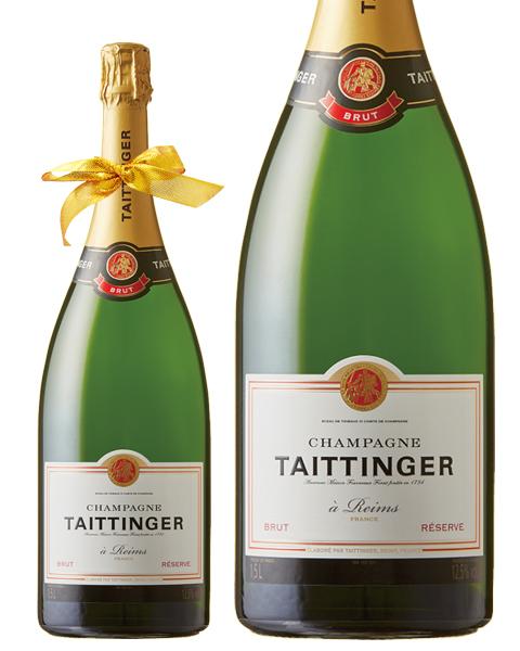 ネックリボンラッピング済み テタンジェ ブリュット レゼルブ マグナム 1500ml 正規 シャンパン シャンパーニュ フランス