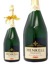 ネックリボンラッピング済み ヘンケルトロッケン ドライセック ダブルマグナム 3000ml 正規 スパークリングワイン