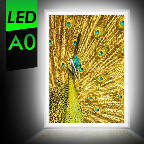 A0 屋内 LEDパネル LED看板 軽量アルミフレーム