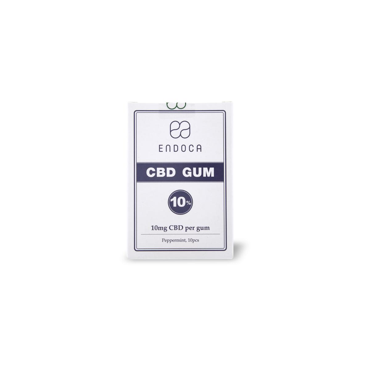 オーガニック CBD ガム CBDガム Endoca エンドカ CBD100mg シュガーフリー ナチュラル 麻 ペパーミント 10個入り グルテンフリー ヘンプオイル 上質 メーカー再生品