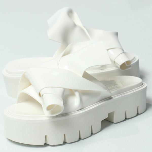 カルテルシューズ / Kartell shoes/ 064 N°21 × Kartell ヌメロ ヴェントゥーノ KNOT ノット サーモプラスチック 厚底 サンダル ヒール4.0 / ホワイト【送料無料】 ka064-white 200