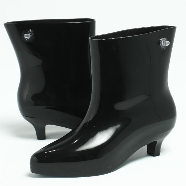 melissa / メリッサ / jeremy scott31916 ラバー ブーツ ヒール5.0 / ブラック【送料無料】 me31916-black 200