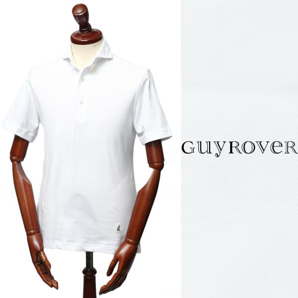 GUY ROVER /ギ ローバー / 鹿の子 カッタウェイ ポロシャツ / ホワイト【送料無料】 pc234j-w 100